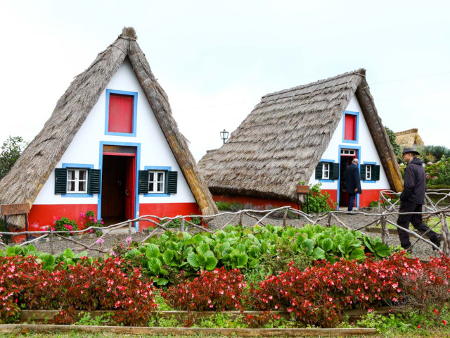 Madeira Island typical houses